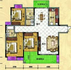 出售(冷水滩)中央新城3室2厅2卫125平毛坯房